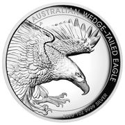 1 Dollar - Elizabeth II (6th Portrait - Australian Wedge-Tailed Eagle - Proof High Relief) -  reverse