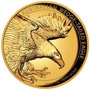 100 Dollars - Elizabeth II (6th Portrait - Australian Wedge-tailed Eagle - Gold Bullion Coin) -  reverse