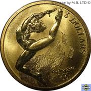5 Dollars - Elizabeth II (3rd Portrait - 13 - Gymnastics) -  reverse