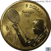 5 Dollars - Elizabeth II (4th Portrait - 14 - Badminton) -  reverse
