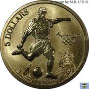 5 Dollars - Elizabeth II (3rd Portrait - 20 - Football) -  reverse