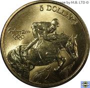 5 Dollars - Elizabeth II (4th Portrait - 22 - Equestrian) -  reverse