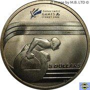 5 Dollars - Elizabeth II (4th Portrait - 2000 Paralympic Games) -  reverse