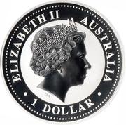 1 Dollar Elizabeth II (4th Portrait - Australian Kookaburra) -  obverse