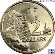 2 Dollars - Elizabeth II (4th Portrait - 50th Anniversary of Decimal Currency) -  reverse