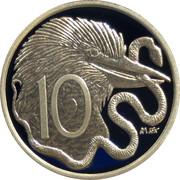 10 Cents - Elizabeth II (4th Portrait - 1966 Decimal Pattern) -  reverse