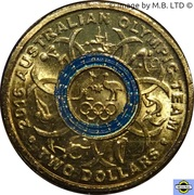 2 Dollars - Elizabeth II (4th Portrait - 2016 Australian Olympic Team - Blue) -  reverse