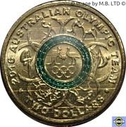 2 Dollars - Elizabeth II (4th Portrait - 2016 Australian Olympic Team - Green) -  reverse