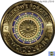2 Dollars - Elizabeth II (4th Portrait - Lest We Forget - War Memorial Dome) -  reverse