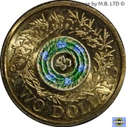2 Dollars - Elizabeth II (4th Portrait - Remembrance Day - Rosemary Sprig) -  reverse
