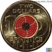 2 Dollars - Elizabeth II (4th Portrait - Remembrance Day - Armistice) -  reverse