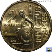 2 Dollars - Elizabeth II (4th Portrait - Invictus Games Sydney 2018) -  reverse
