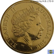 1 Dollar - Elizabeth II (4th Portrait - 50th Anniversary Moon Landing) -  obverse