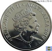 1 Dollar - Elizabeth II (6th Portrait - Australian Coinage Portrait 1998-2019) -  obverse
