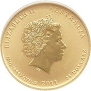 "25 Dollars - Elizabeth II (4th Portrait - ""Lunar Year Series"" Gold Bullion Coinage) -  obverse"