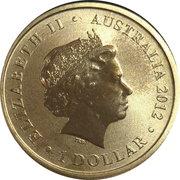 1 Dollar - Elizabeth II (4th Portrait - 2012 Australian Olympic Team - Faster) -  obverse