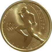 1 Dollar - Elizabeth II (4th Portrait - 2012 Australian Olympic Team - Faster) -  reverse