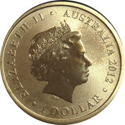 1 Dollar - Elizabeth II (4th Portrait - 2012 Australian Olympic Team - Higher) -  obverse