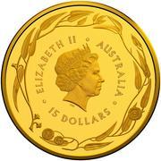 15 Dollars - Elizabeth II (4th Portrait - Gold Bullion Coin) -  obverse