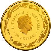 50 Dollars - Elizabeth II (4th Portrait - Gold Bullion Coin) -  obverse