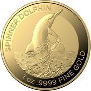 100 Dollars - Elizabeth II (6th Portrait - Spinner Dolphin - Gold Bullion Coin) -  reverse