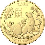 5 Dollars - Elizabeth II (4th Portrait - Year of the Rat - Gold Bullion Coin) -  reverse
