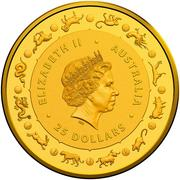 25 Dollars - Elizabeth II (4th Portrait - Year of the Rat - Gold Bullion Coin) -  obverse