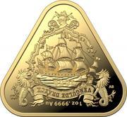 100 Dollars - Elizabeth II (6th Portrait - Vergulde Draeck - Gold Proof) -  reverse