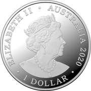 1 Dollar - Elizabeth II (6th portrait - Eureka! - Silver Proof) -  obverse