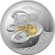 1 Dollar - Elizabeth II (6th portrait - Eureka! - Silver Proof) -  reverse