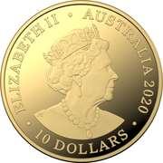 10 Dollars - Elizabeth II (6th Portrait - Eureka! - Gold Proof) -  obverse