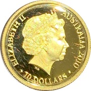 10 Dollars - Elizabeth II (4th Portrait - Year of the Tiger - Gold Proof) -  obverse