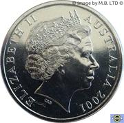 20 Cents - Elizabeth II (4th Portrait - Centenary of Federation - Western Australia) -  obverse