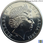 20 Cents - Elizabeth II (4th Portrait - Centenary of Federation - Northern Territory) – obverse