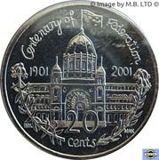 20 Cents - Elizabeth II (4th Portrait - Centenary of Federation - Victoria) -  reverse