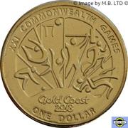 1 Dollar - Elizabeth II (4th Portrait - XXI Commonwealth Games) -  reverse