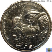 20 Cents - Elizabeth II (4th Portrait - Coming Home - End of World War II) -  reverse