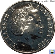20 Cents - Elizabeth II (4th Portrait - Burke and Wills) -  obverse