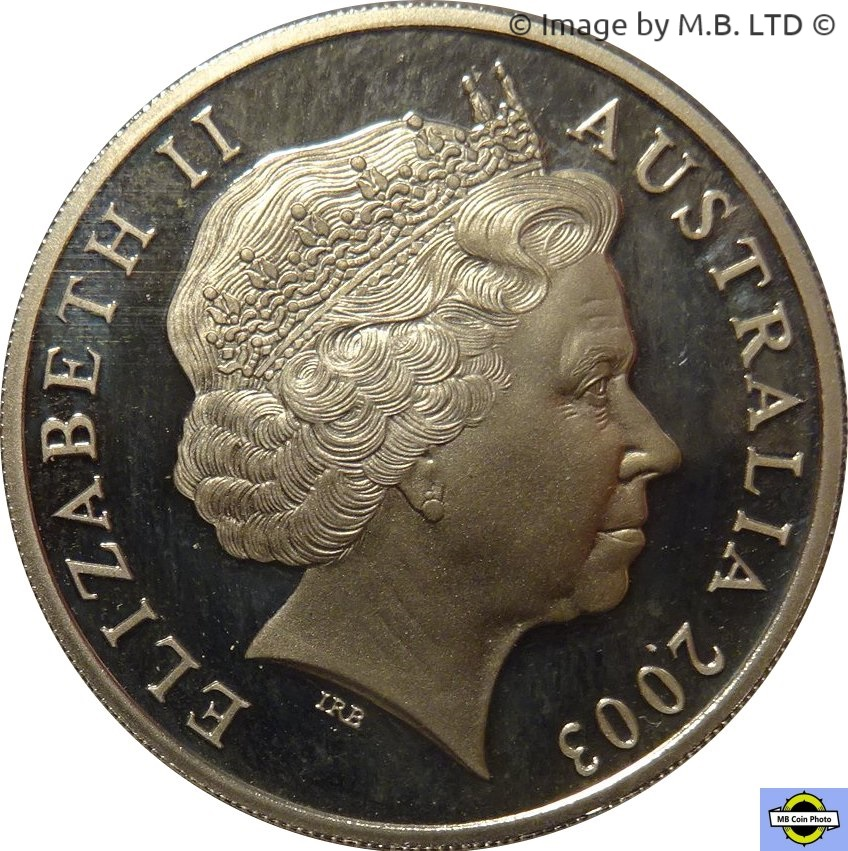 AUSTRALIA 2003 20 CENTS PROOF VOLUNTEERS  EXTREMELY LOW MINT YEAR FOR 20 CENTS