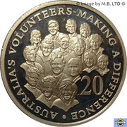 20 Cents - Elizabeth II (4th Portrait - Volunteers) -  reverse