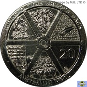 20 Cents - Elizabeth II (4th Portrait - Australian Wool) – reverse