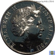 20 Cents - Elizabeth II (4th Portrait - War Historians) – obverse