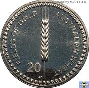20 Cents - Elizabeth II (4th Portrait - Australian Wheat Fields of Gold) – reverse