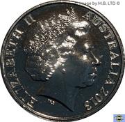 20 Cents - Elizabeth II (4th Portrait - Hyper-Metallic Platypus) -  obverse