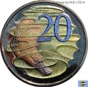 20 Cents - Elizabeth II (4th Portrait - Hyper-Metallic Platypus) -  reverse