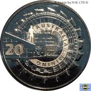 20 Cents - Elizabeth II (4th Portrait - Australian Mining) – reverse