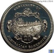 20 Cents - Elizabeth II (4th Portrait - Centenary of Australian Banknotes - 10 Shilling) -  reverse