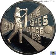 20 Cents - Elizabeth II (4th Portrait - Ashes Cricket Since 1882) -  reverse