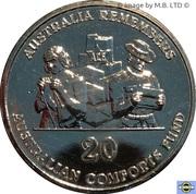 20 Cents - Elizabeth II (4th Portrait - Australian Comforts Fund) -  reverse