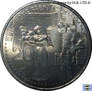 20 Cents - Elizabeth II (4th Portrait - Home Front) -  reverse